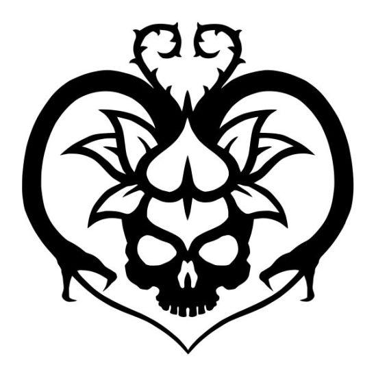 "The Black Lotus Kult ""LOVE KULT"" design by Hagen von Tulien"