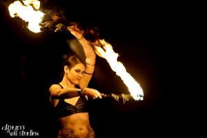 Fire performance in Seattle, WA - Photo by Drumroll Studios